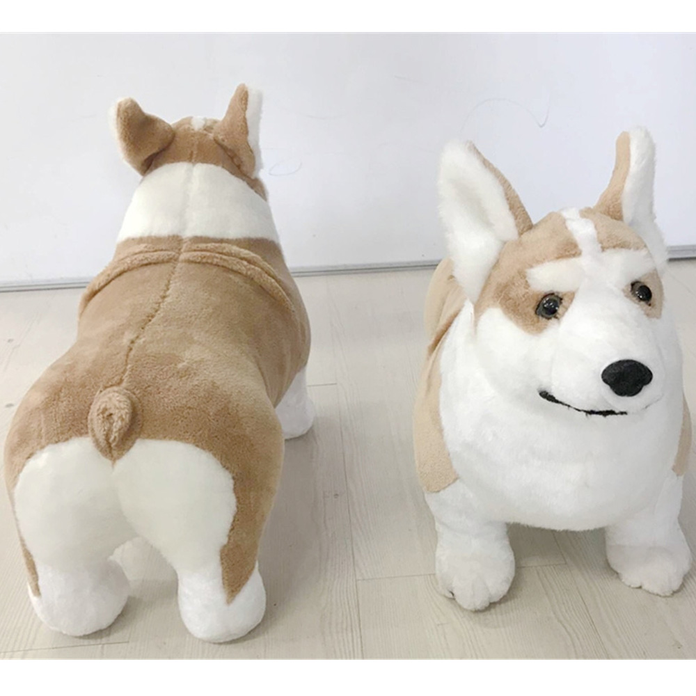 Fancytrader Simulated Stuffed Plush Corgi Dog Toy for Children Big Realistic Quality Animals Dog Doll 50cm 20inch stuffed dog plush toys black dog sorrow looking pug puppy bulldog baby toy animal peluche for girls friends children 18 22cm