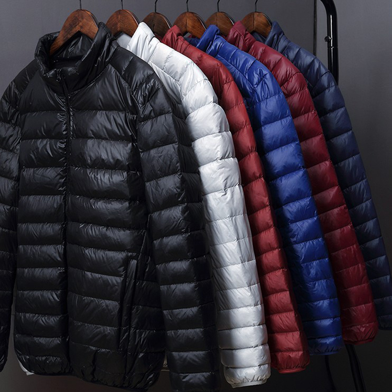 2019 Winter Fashion Brand Duck   Down   Jacket Men's Ultra Light Streetwear Feather   Coat   Packable Waterproof Warm Mens Clothing