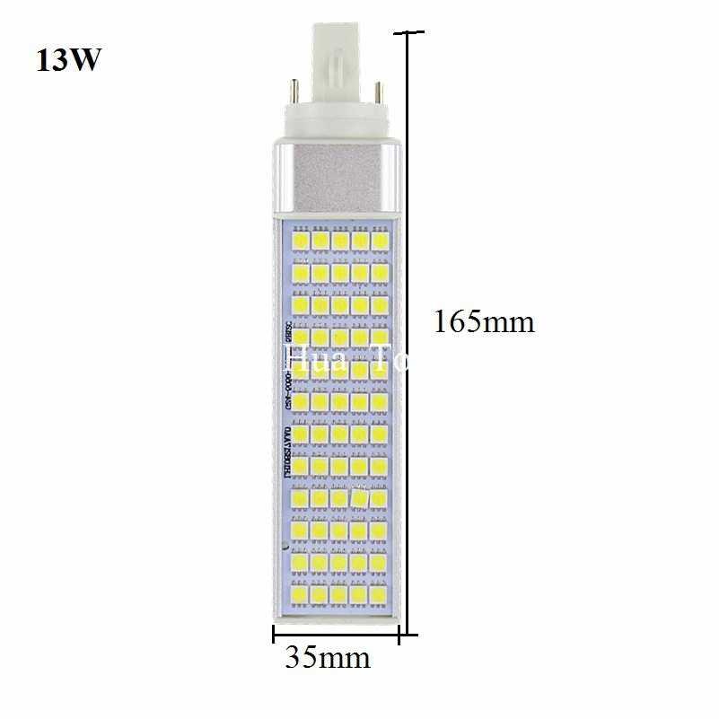 Lampada E27 G24 G23 5 w 7 w 9 w 11 w 13 w 14 w 110 v 220 v תקע אופקי מנורת SMD5050 Bombillas LED PL תירס הנורה ספוט אור תאורה