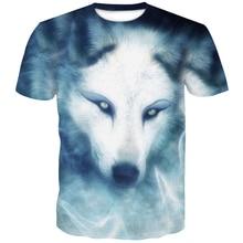 High Quality Wolf Printed T shirts Men 3d T-shirts  Short Sleeve Camiseta Round Neck Tshirt Fashion Casual Brand 4XL Top Tee