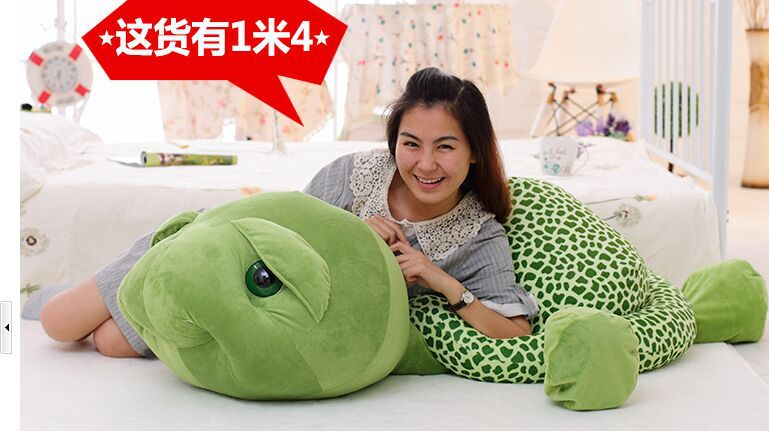 huge  plush toy stuffings turtle toy tortoise doll throw pillow , Christmas gift w3058 about 60cm creative prone cat doll plush toy soft throw pillow christmas gift x071