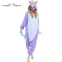 2017 New Animal Stitch Unicorn Panda Bear Koala Onesie Adult Unisex Pajamas Cosplay Costume Sleepwear For