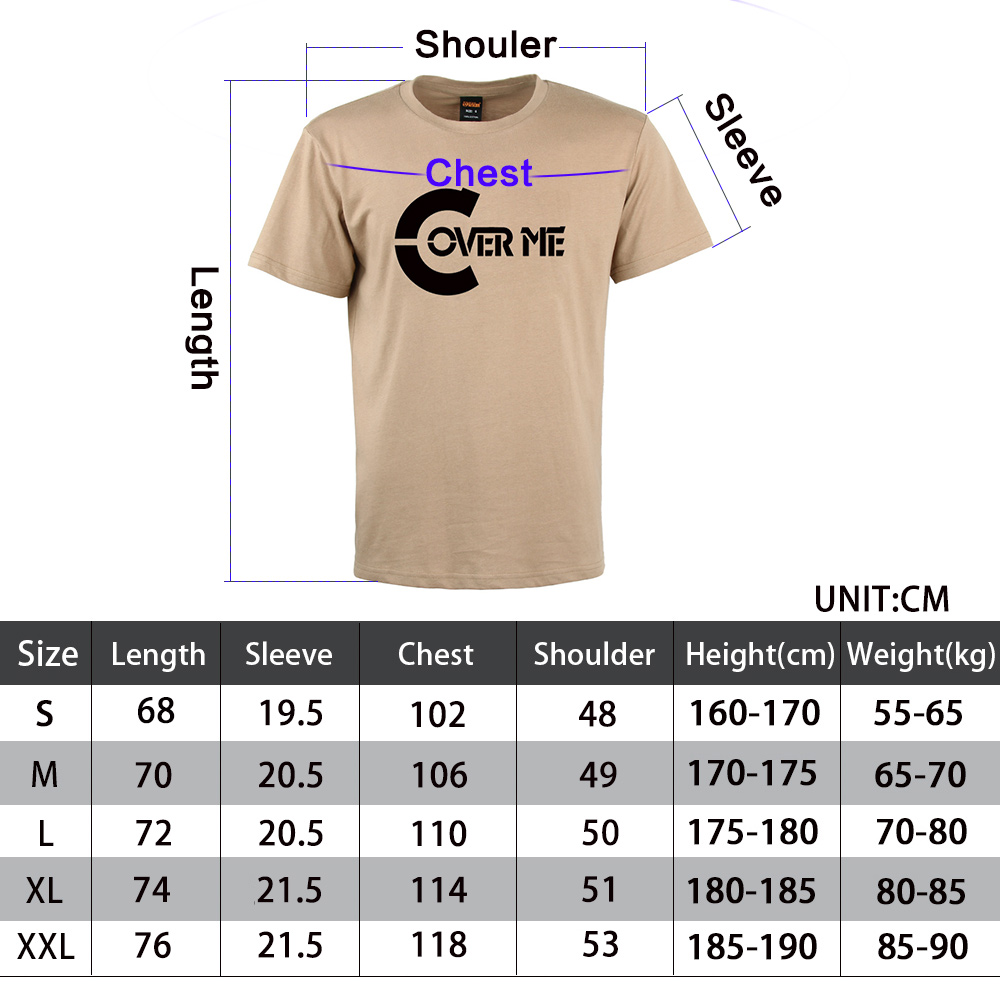 Outdoor Men's Crewneck T-Shirt Cover Me Word Shirt Graphic Tees Tops Tees Tops