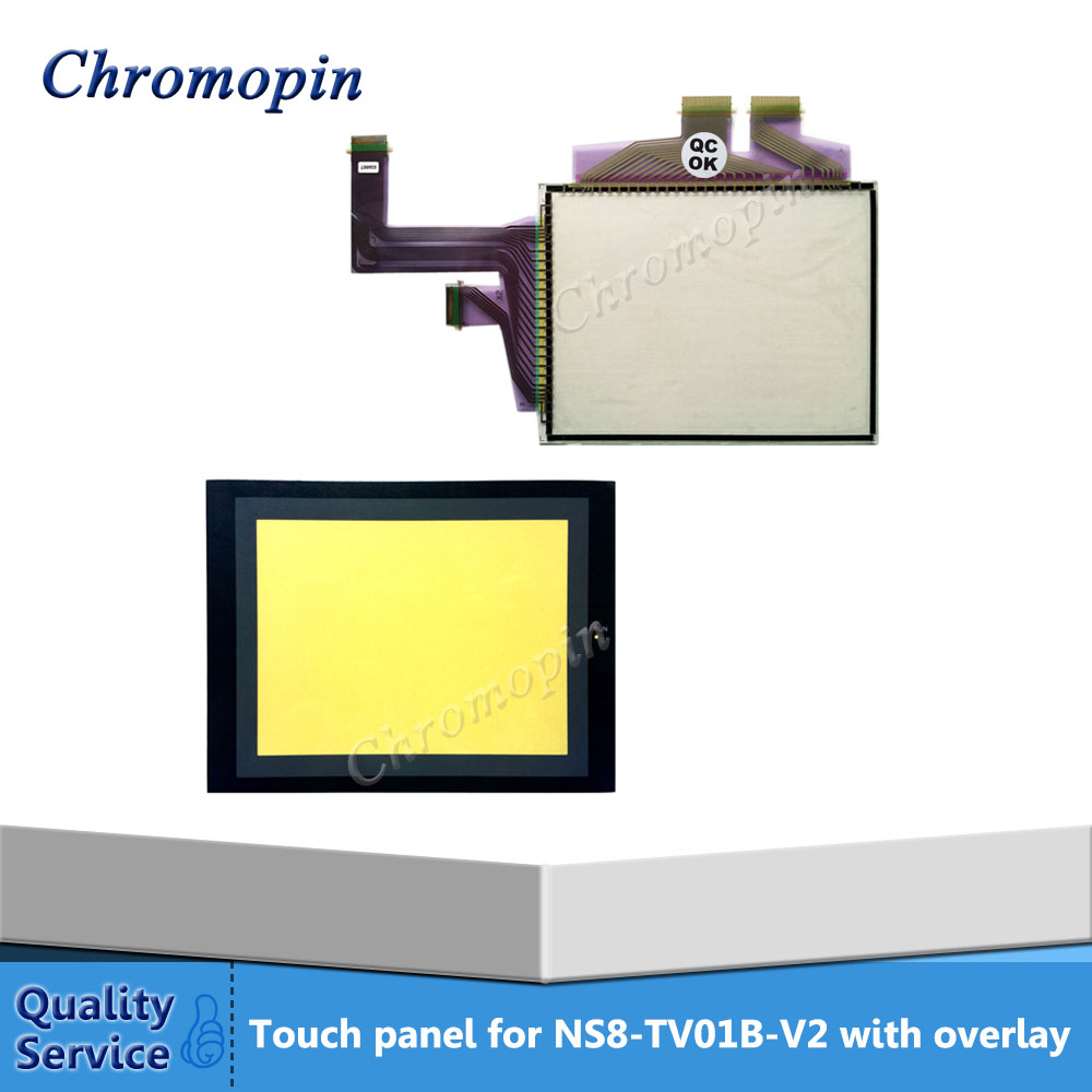 New Original Touch panel screen for Omron NS8-TV01-V2 NS8-TV01B-V2 with Front overlay