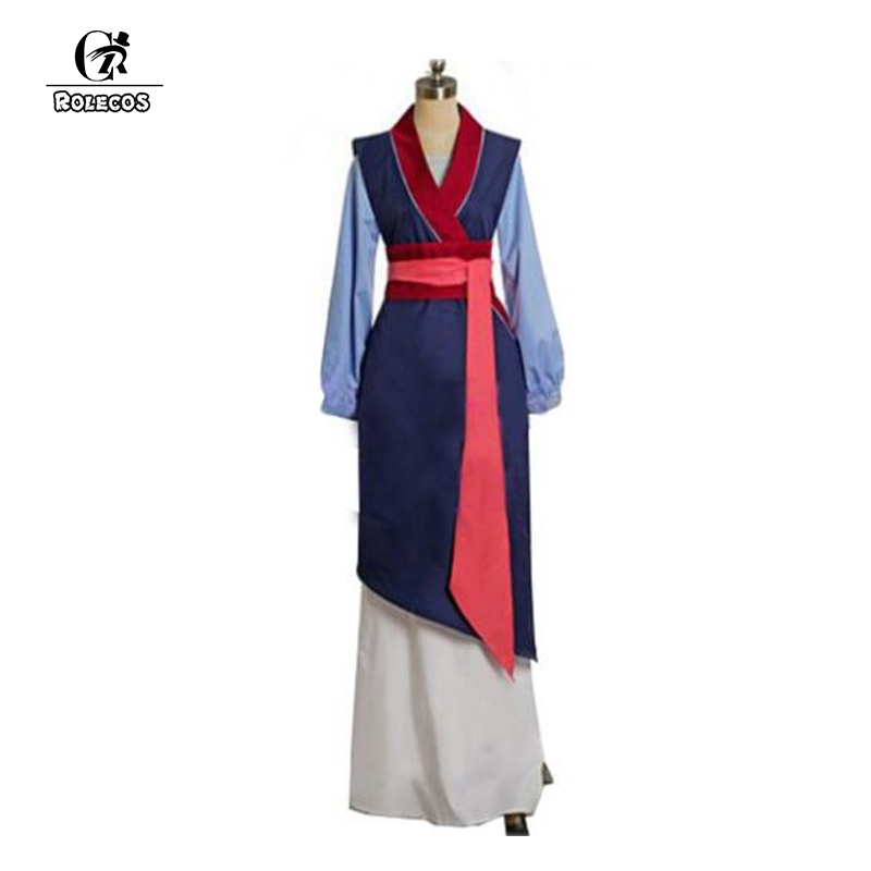 ROLECOS Mulan Cosplay Costume Chinese Traditional Dress Adult Women Dress Princess Costume Halloween Party Clothing