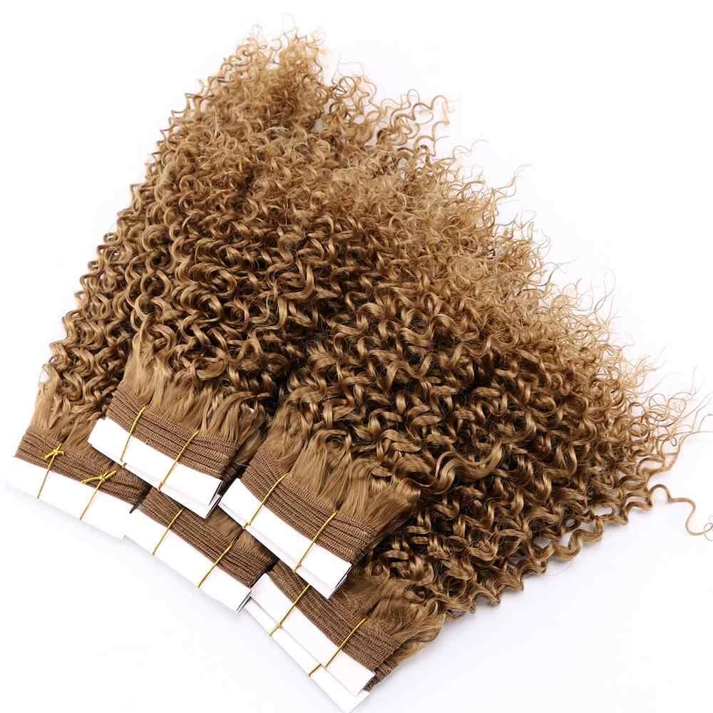 FSR курчавые пучки вьющихся волос натуральный черный цвет мягкие искусственные завитые волосы 8-20 дюймов Кудрявые Волнистые Волосы Уток