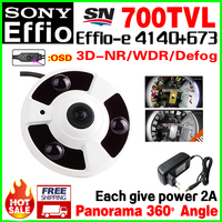2017 New Panorama 360 1 3 Sony CCD 4140Effio E HD CCTV Camera Indoor Array Night
