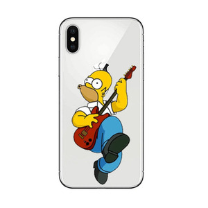 Гомер Дж. Симпсон чехол для телефона iPhone 5 5s SE 6 6s 7 8 P PLUS X XR XS MAX Милый Забавный модный мультяшный силиконовый чехол для телефона