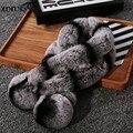 В южной Корее новый женский зимний мех толстые модели Rex меховой воротник теплый кролика махрово шарф специальный