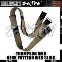 WWII WW2 US ARMY THOMPSON SMG-KERRPATTERN WEB SLING-US/105105
