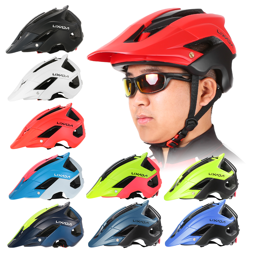 Lixada Mountain Bike Cycling Bicycle Helmet Sports Safety Protective Helmet 13 Vents MTB Cycling Bike Sports Safety Helmet|Bicycle Helmet| |  - title=