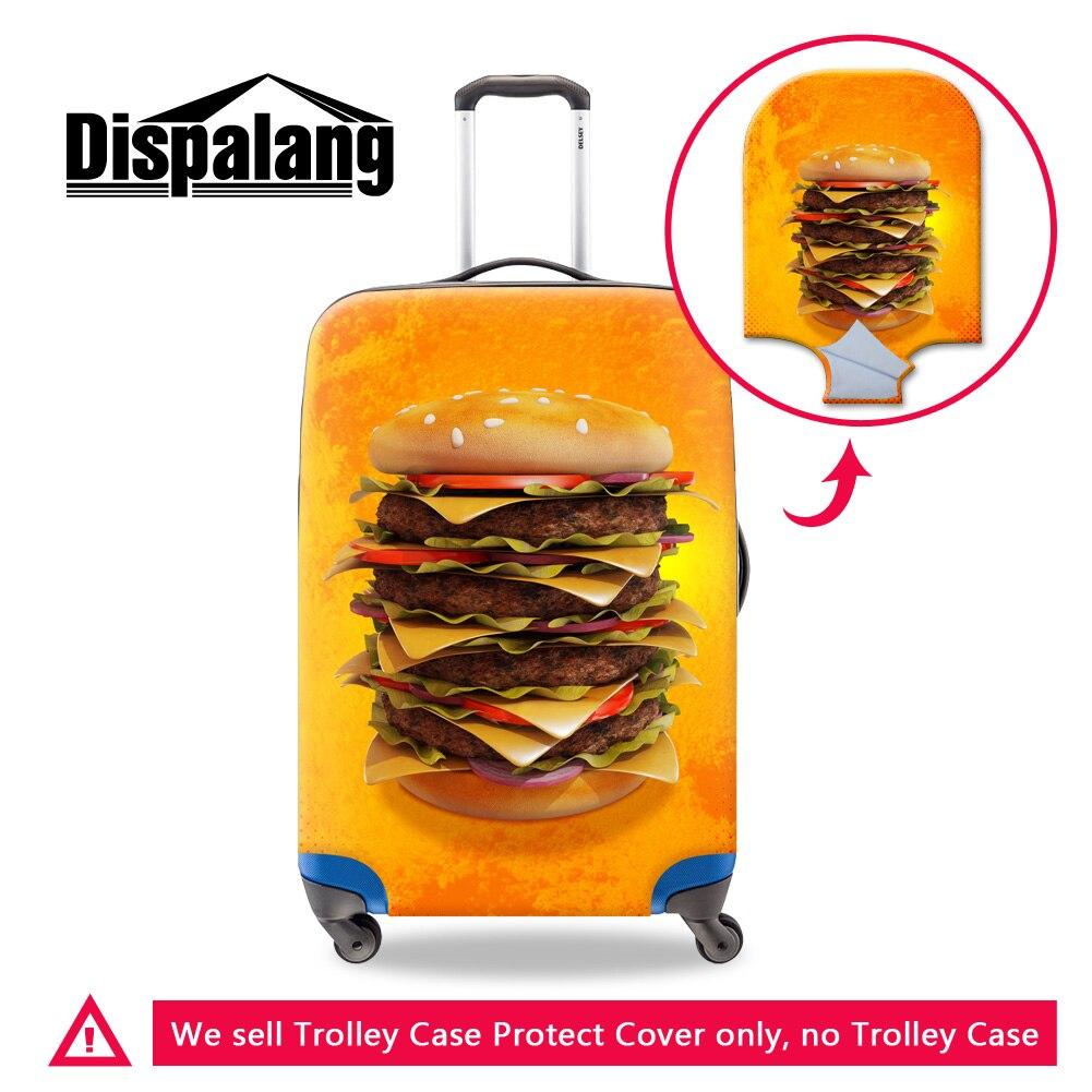 Dispalang гамбургер плотные эластичные багажа Защитные чехлы с застежкой-молнией водонепроницаемый багажной тележки пылезащитный Путешествия...