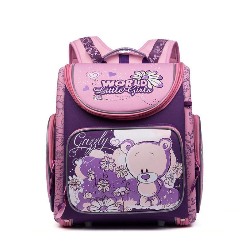 Brand School Bags for Girls Children Orthopedic Backpacks High Quality Cartoon Bear SchoolBags for kids Bags Mochila Infantil