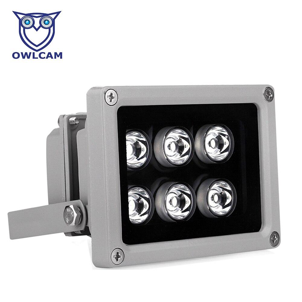 bilder für 80 mt hilfs infrarot licht mit 6 led nachtsicht 60/90 grad illuminator lampe für cctv ip kamera