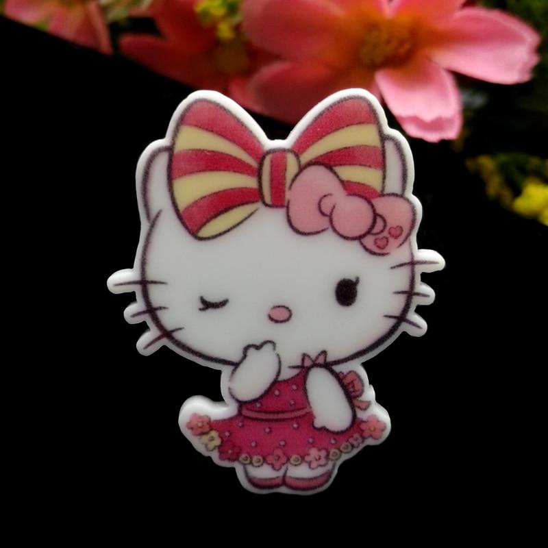 20af2b9c1 40pcs/Lot 33x27mm Cute Bow Hello Kitty Flower Planar Resin Flatback  Cabochons Hair Bow Center DIY Frame Card Making Embellishmen-in Figurines &  Miniatures ...