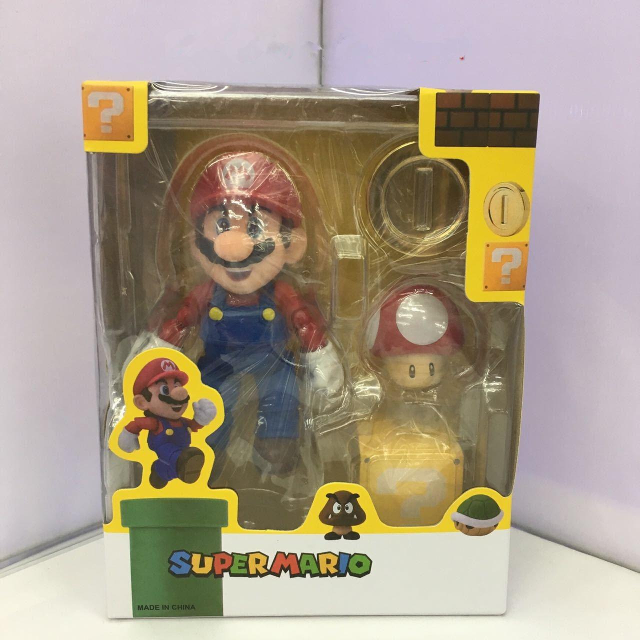 SHFiguarts Super Mario Bros Mario & Toad / Luigi & Koopa PVC Action Figure Collectible Model Toy 11cm KT3857 shfiguarts super mario bros mario