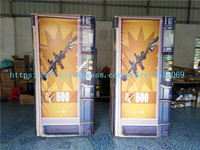Sell outdoor cs shooting game props, inflatable paintball, PVC inflatable shelter wall, cs game obstacles