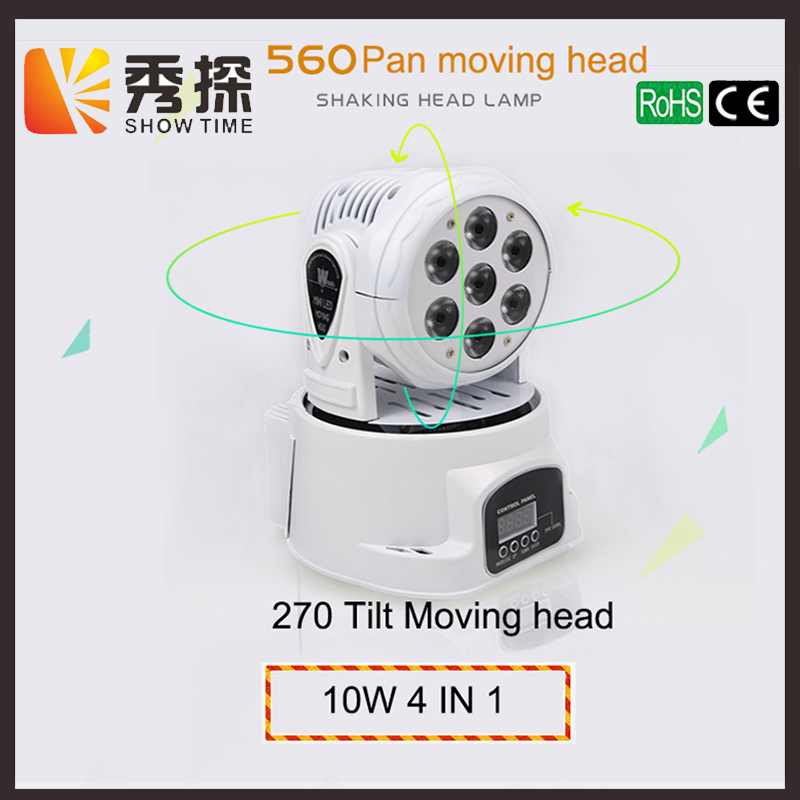 Free shipping 7pcs RGBW 4 in 1 Mini LED moving head light Stage good effect for DJ Bar Club Disco Home entertain Wash background trending hot products 7pcs 10w 4 in 1 rgbw led wash mini moving head dj light dmx512 holiday lighting for club disco decorations