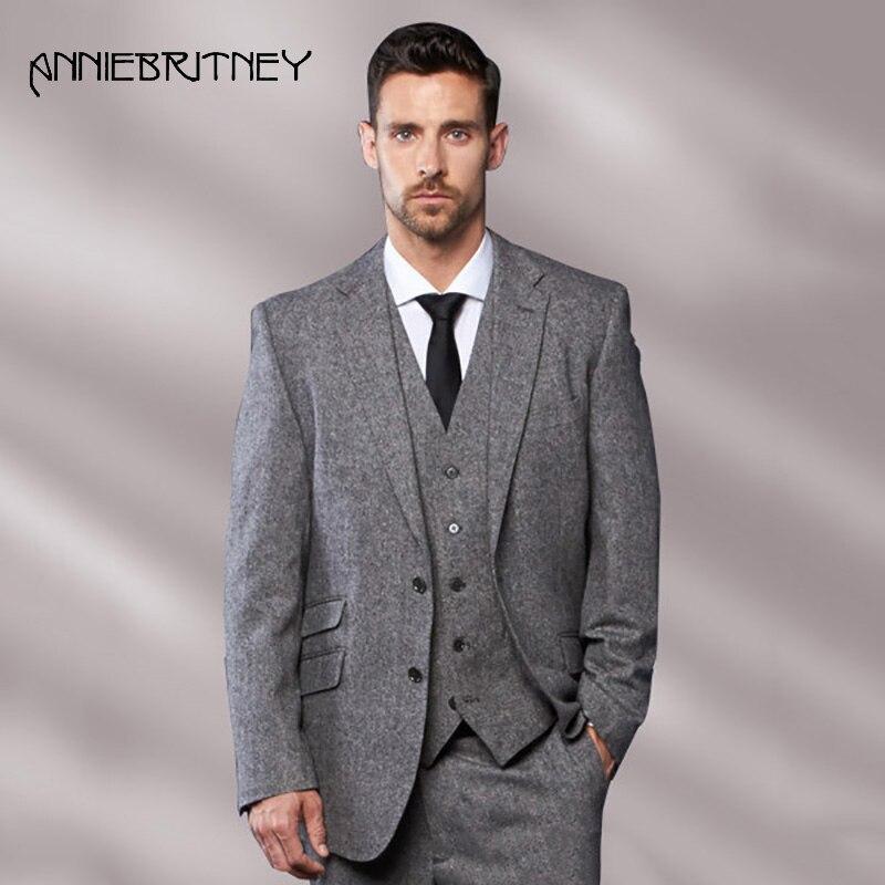 Latest-Coat-Pant-Designs-Grey-Tweed-Men-Suit-Slim-Fit-3-Piece-Tuxedo-Custom-Groom.