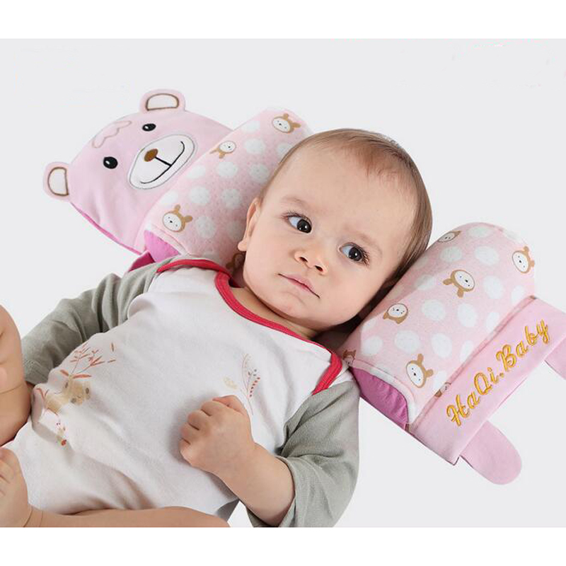 100% Cotton Buckwheat 6 Functions Baby Pillows Baby Toddler Safe Sleep Head Positioner Cartoon Shape Anti Roll Pillow yun buckwheat