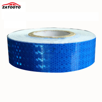 5cm 50M Blue Reflective Tape Safety Warning Tape Film Sticker Road Self Adhesive Warning Sticker