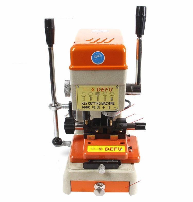 La mejor cortadora de llaves Defu 998c para la venta 110v ~ 130v o 220v ~ 230v puede suministrar herramientas de cerrajería