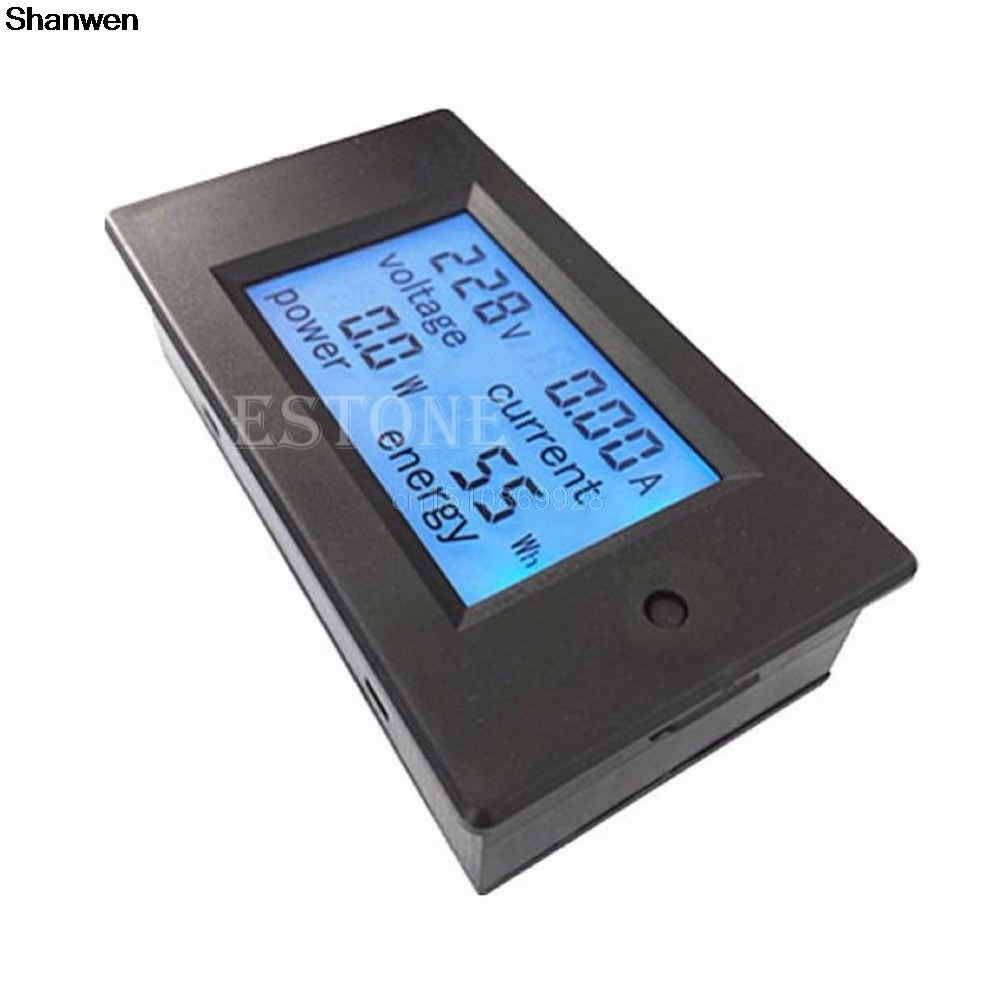1pc Power Meter AC 80-260V LCD Digital 20A Volt Watt Power Meter Ammeter Voltmeter