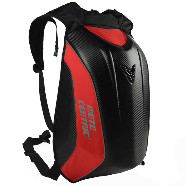 30c625eb0d33 US $28.29 31% OFF|Carbon Fiber Motorcycle Backpack MotoGP Racing Bag  Motocross Hard Shell Backpack Luggage BAG Waterproof -in Top Cases from ...
