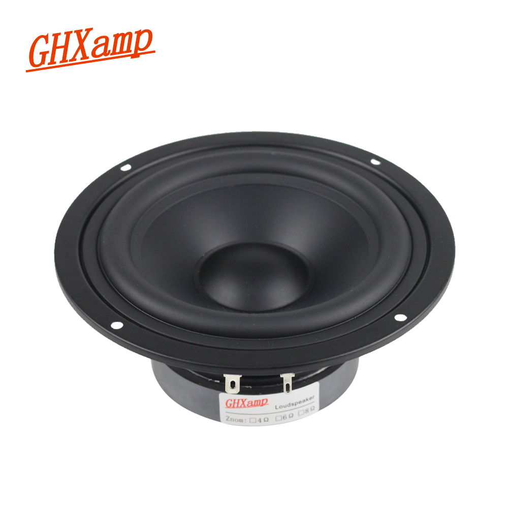 GHXAMP 5 INCH 8OHM 90W Woofer <font><b>Speaker</b></font> Unit Alto Stereo HOME <font><b>Speaker</b></font> MID-BASS HIFI Loudspeaker DIY 1PCS image