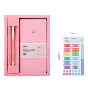 Pure Color Pocket Weekly Planner Notebook Set 88 Sheets 19.1*9.8cm DIY Weekly Plan Book Gift Free Shipping