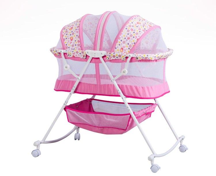 Kinderbett wiege bett mit moskitonetz stahlrahmen faltbare baby