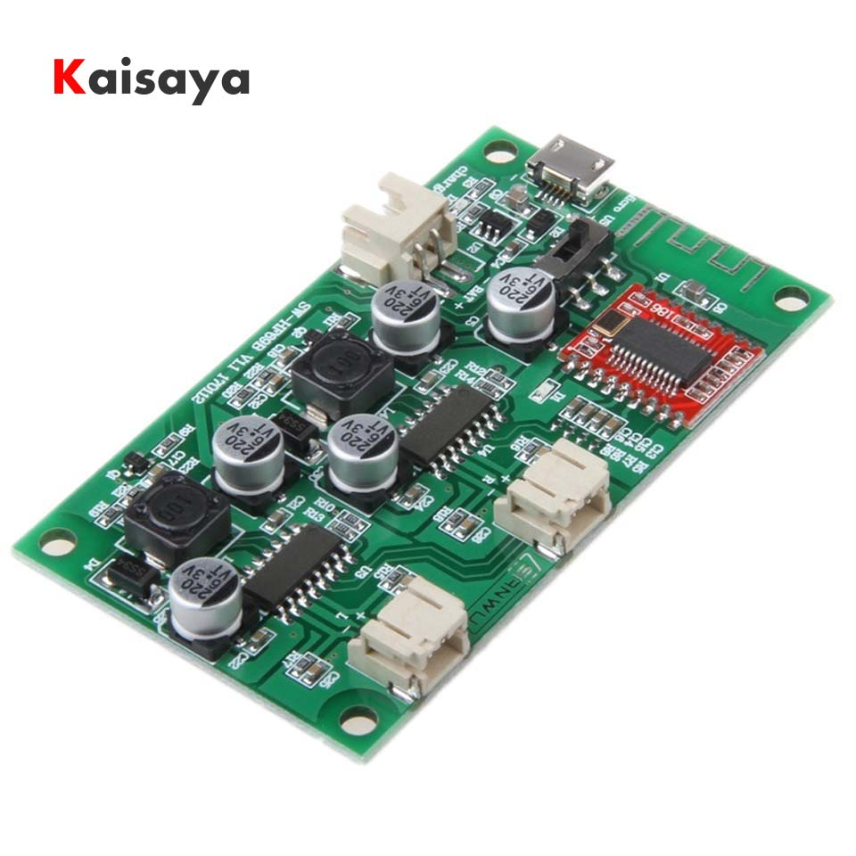 2x6W DC 5V 3.7V speaker modified Stereo Bluetooth amplifier board can connected lithium battery with charge management A8-020