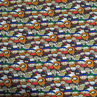 140X100cm South Park Elastic Cotton Fabric For Baby Clothes Sewing Home Textile Patchwork DIY AFCK154