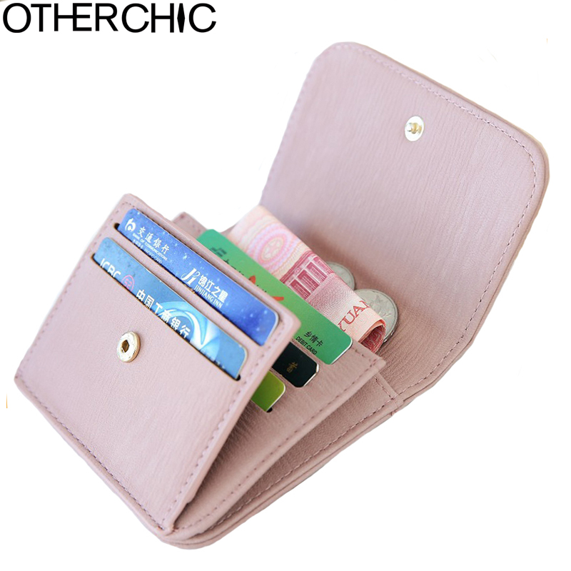 OTHERCHIC Women Short Wallets Ladies Fashion Small Mini Wallet Coin Purse Female Card Holder Wallet Purses Money Bag L-7N11-14 new hot winter beanies solid color hat unisex warm grid beanie skull knit cap hats knitted touca gorro caps for men women