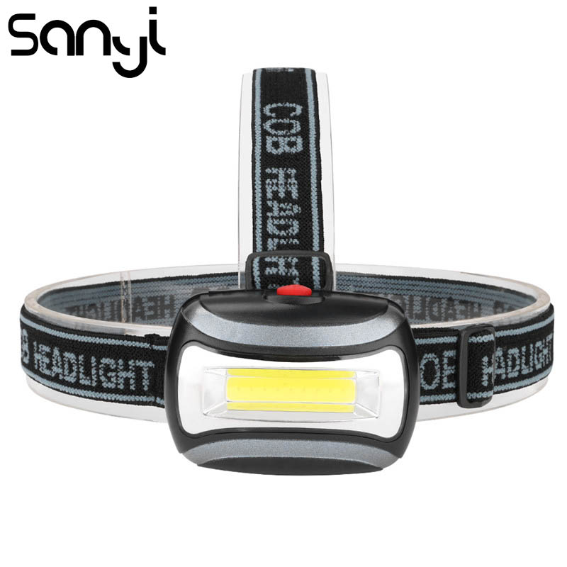 SANYI Mini Flashlight Head 3 Modes By 3* AAA Battery Headlight Headlamp LED 3800 Lumen Camping Light Torch