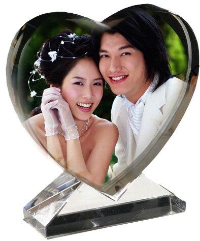 k9 cristal coeur photo personnalisation cadre grav au laser de mariage photo album de valentine jour de nol cadeau danniversaire cadeau dans photo albums - Cadre Photo Mariage Grav
