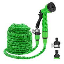 25 10FT Flexibele Tuin Water pistool Tuinslang Pijp Multifunctionele Hoge Druk Sproeikop Inklapbare Slang voor Tuin auto
