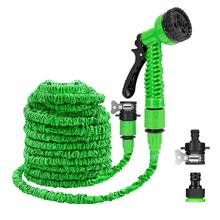 25 10FT Flexible Garden Water Guns Garden Hose Pipe Multi  Function High Pressure Spray Nozzle Collapsible Hose for Garden Car
