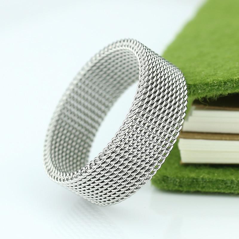 Penghantaran Percuma 8mm lebar keluli tahan karat cincin titanium - Perhiasan fesyen - Foto 3