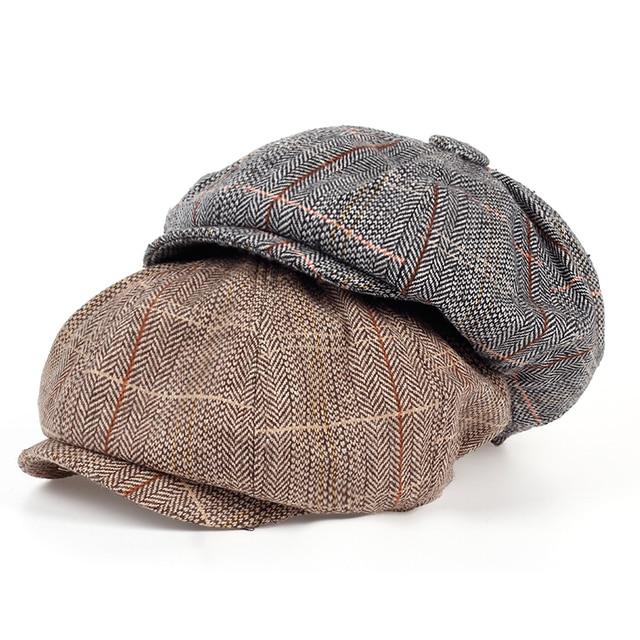 025233da6a Fashion Gentleman Octagonal Cap Newsboy Beret Hat Autumn And Winter For  Men s Jason Statham Male Models