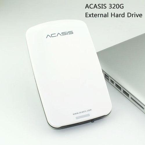 Bom preço do transporte livre 2.5 ''acasis original 320g hdd usb2.0 Móveis Disco Rígido externo Portátil Disk Plug and Play Em venda