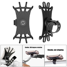 Bicycle Mobile Phone Holder Silicone 360 Degree Rotating Stable Handlebar Mount JT-Drop Ship