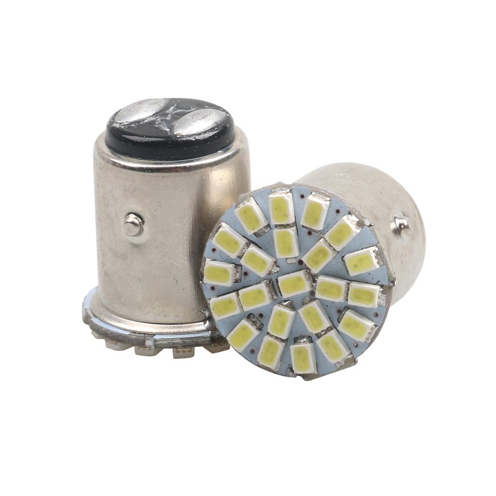 2Pcs 1157 BAY15D 1156 1206 3020 22SMD White LED Brake Turn Light Auto mobile Wedge Lamp Tail Bulb Super Bright DC 12V Car Led цена и фото