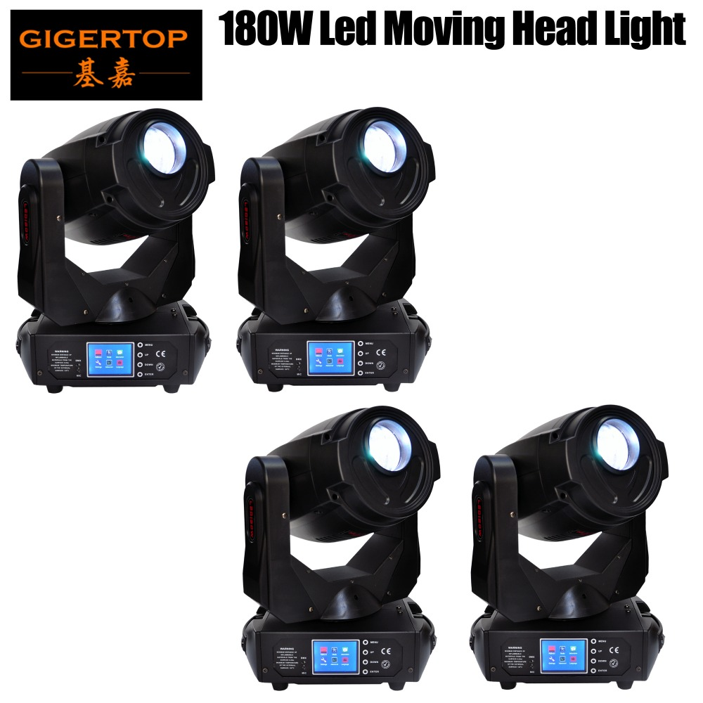 Freeshipping 4 Pack 180W Led Moving Head Spot Fixture Colorful Color Gobo Scanner Blizzard Lighting Led Screen 17 DMX Channels