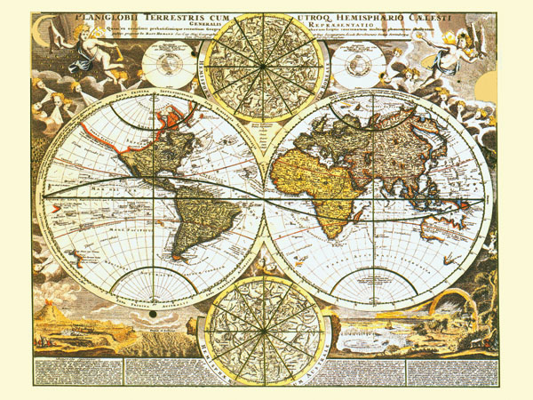 Free ship retro ancient world map canvas painting vintage wall getsubject aeproduct gumiabroncs Choice Image