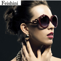 High Quality Shop Counters Sunglasses Women Brand Designer Luxury 3D Flower UV400 PC Gradient Lens Round