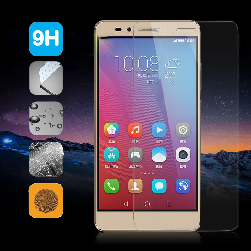 9H Tempered <font><b>Glass</b></font> Screen Film For <font><b>Huawei</b></font> <font><b>Honor</b></font> 7 <font><b>5C</b></font> 5X 5A Y6 II Pro P9 P8 Lite Ascend P7 Y5 Y541 G8 Y5C Y3C Y336 Case Protector image