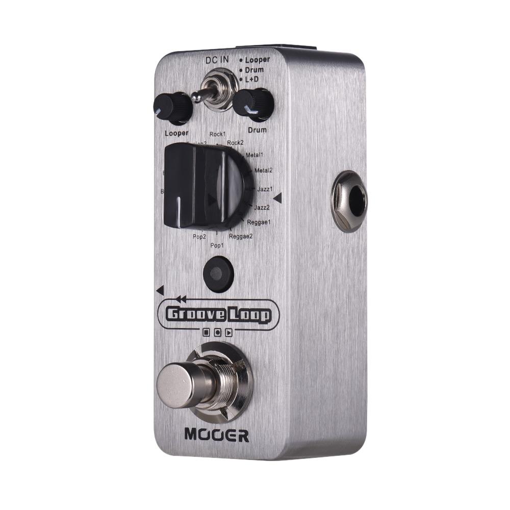 MOOER Groove Loop Guiatr Pedal Drum Machine Looper Pedal 3 Modes Max 20min Recording Time Tap