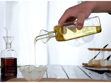 1PC eco-friendly oil vinegar bottle cruet glass 150ml 250ml 500ml olive bottles dispenser X0004