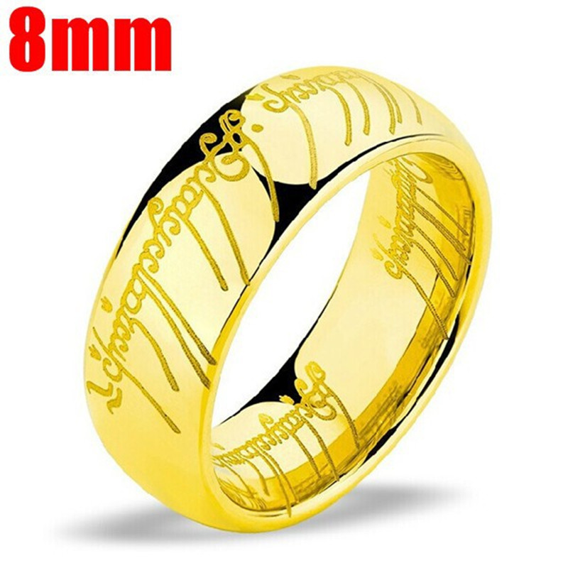 2017 Magic Letter One Ring Gold Titanium Stainless Steel Ring Men 39 s and Women 39 s in Rings from Jewelry amp Accessories